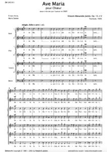 Ave Maria, Op. 10, n°2