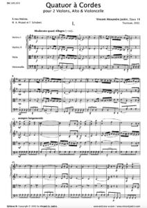 Quatuor à Cordes, Opus 16