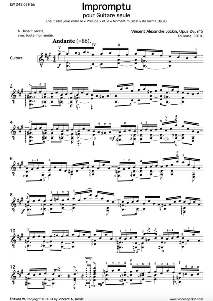 Impromptu, Op. 26, n°5
