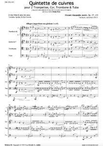 Quintette de cuivres, Op. 27, n°2