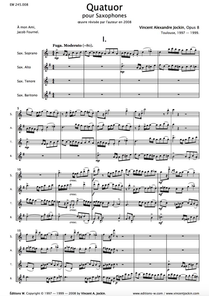 Quatuor, Opus 8