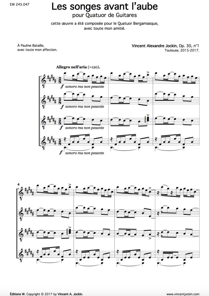 Les songes avant l'aube, Op. 30, n°1