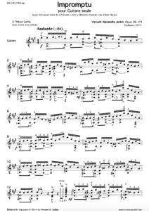 Impromptu, Op. 26, n° 5