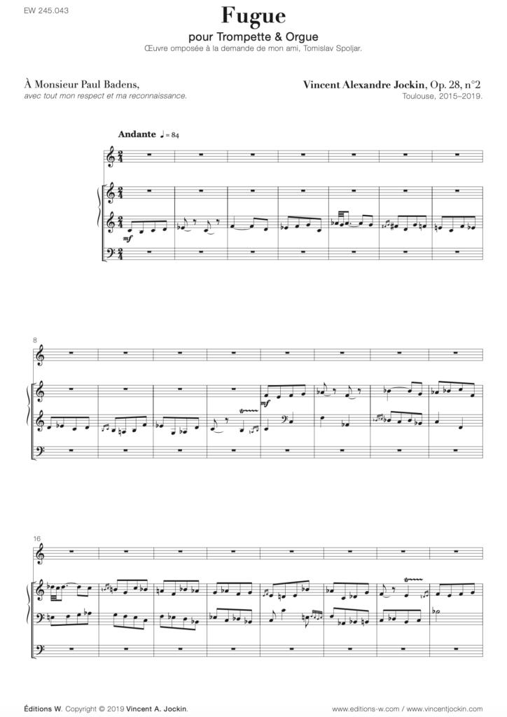 Fugue, Op. 28, n° 2